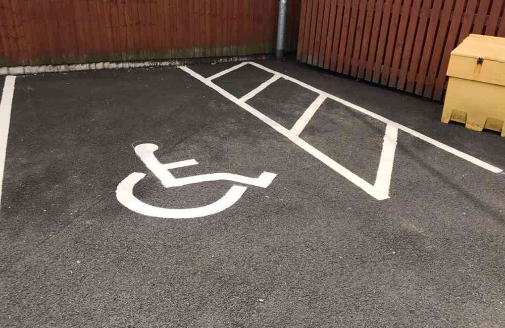 car park line marking at Altrincham care home