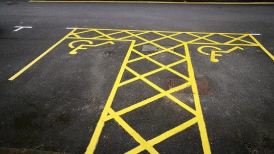 Manchester line marking of disabled parking bays